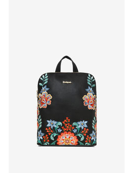 Floral Embroideries Backpack by Desigual