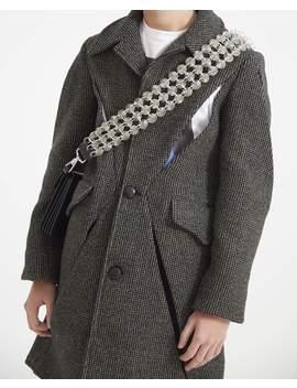 Pre Order: Exclusive Button Bag Strap   Light Grey by Stefan Cooke