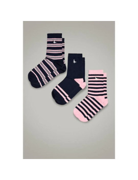 Denby Three Pack Socks by Jack Wills