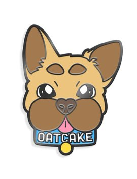 Oatcake Enamel Pin by Join The Party