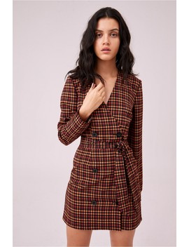 Honors Check Dress by Bnkr