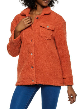 Sherpa Button Front Jacket by Rainbow