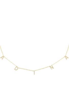 Pavé Block Name Necklace by Adina's Jewels