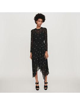 Cashmere Scarf Dress With Strass Motif by Maje