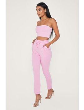 Sylvia Loopback Joggers   Pink by Meshki