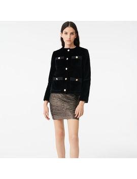 Velvet Jacket With 4 Pockets by Maje