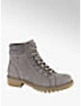 Grey Leather Hiker Boots by Landrover