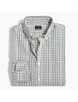 Tattersall Regular Flex Casual Shirt by J.Crew