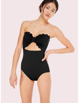 Marina Piccola Cut Out Bandeau One Piece Swimsuit by Kate Spade