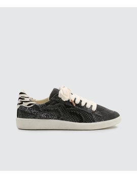 Nino Sneakers In Charcoal Snakenino Sneakers In Charcoal Snake by Dolce Vita