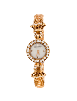 Boucheron Mother Of Pearl Diamond & 18k Rose Gold Ma Jolie Women's Wristwatch 18 Mm by The Luxury Closet