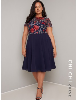 Chi Chi Curve Merryn Dress by Chi Chi London