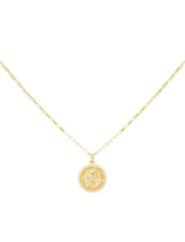 Pavé Coin Link Necklace by Adina's Jewels