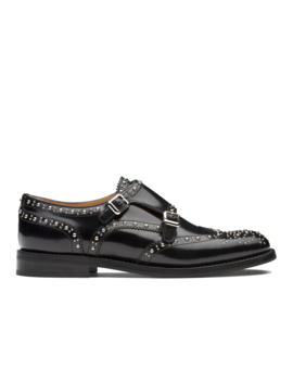 Polished Binder Monk Brogue  Stud Black by Church's Footwear