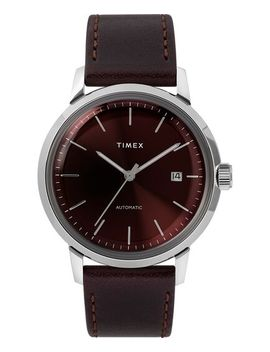 Marlin® Automatic 40mm Leather Strap Watch by Timex