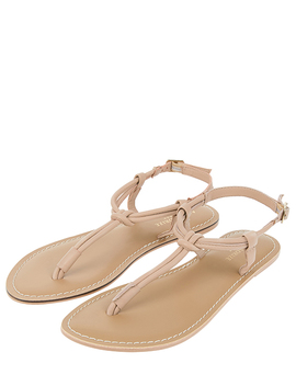 Knotted Leather Sandals by Accessorize
