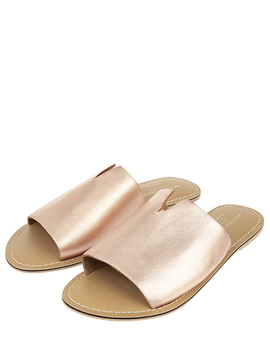 Ellie Leather Sliders by Accessorize