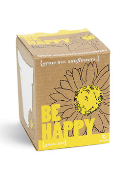 Grow Me Be Happy Sunflower by Iwoot