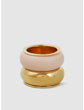 Breve Gold Tone Acrylic Ring by ‎Uncommon Matters‎