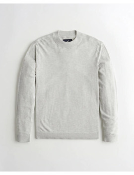 Lightweight Mockneck Sweater by Hollister
