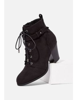 Dally Lace Up Ankle Boot by Justfab