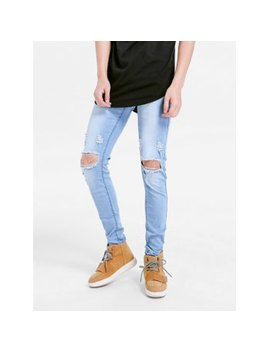 Stretchy Destroyed Hole Skinny Jeans by Dress Lily
