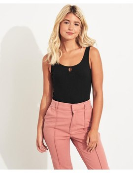 Slim Tank Super Cheeky Bodysuit by Hollister