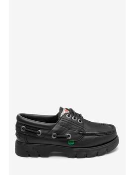 Kickers® Black Lennon Leather Boat Shoe by Next