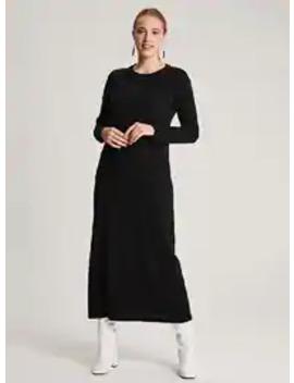 Black   Crew Neck   Unlined      Dress by Modanisa
