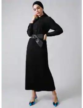 Black   Unlined   Acrylic      Skirt by Modanisa