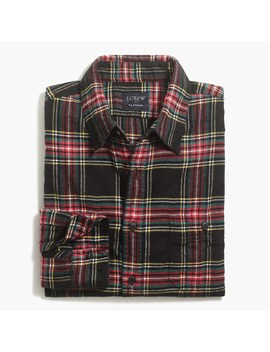 Tartan Slim Flannel Shirt by J.Crew
