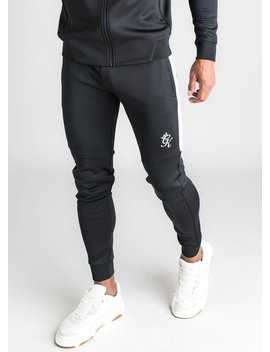 Gk Core Plus Poly Tracksuit Bottoms   Black by The Gym King