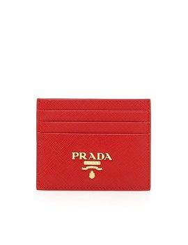 Prada Logo Saffiano Card Holder by Prada Prada