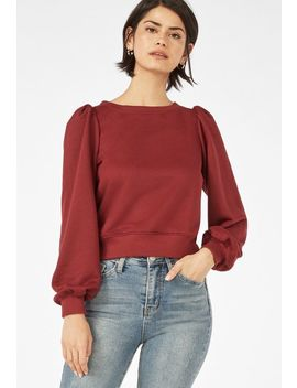 Puff Sleeve Sweatshirt by Justfab