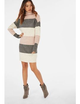 Colorblock Sweater Dress by Justfab