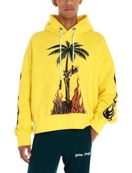 'burning Skeleton' Hoodie by Palm Angels