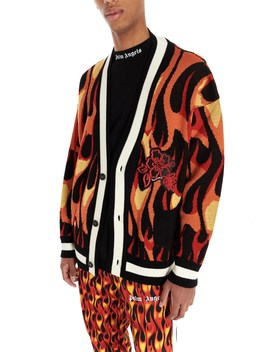 'burning' Cardigan by Palm Angels