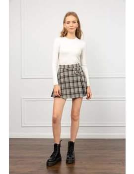 Cherie Green Plaid Mini Skirt by J.Ing