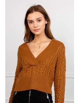 Auburn Braided Rib Knit Sweater by J.Ing