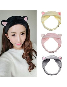 Preferred Tool Wash Shower Cap Hair Accessories Hair Head Band Cute Cat Ears Headband by Shopee