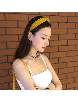 Preferred Vintage Cross Knot Elastic Hairbands Women Spring Suede Soft Solid Headbands by Shopee