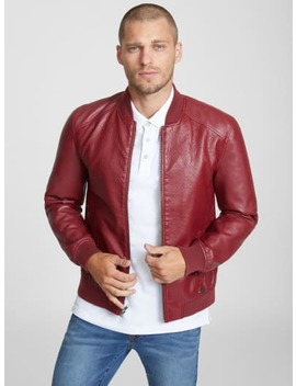 Slayton Textured Bomber Jacket by G By Guess