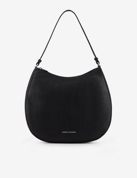 Faux Leather Hobo Bag by Armani Exchange