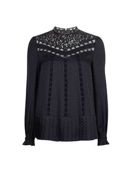 Shilli Animal Mesh Lace Top by Ted Baker