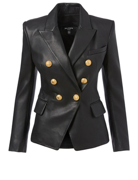 Leather Double Breasted Blazer by Holt Renfrew