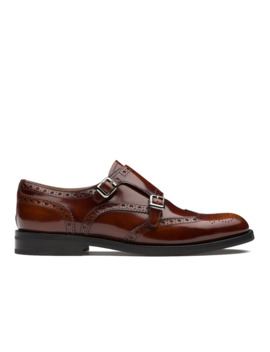 Polished Fumè Monk Brogue Tabac by Church's Footwear