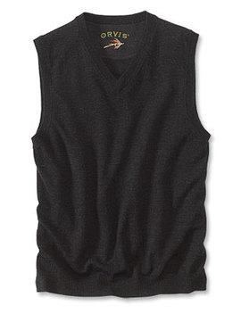 Merino V Neck Vest Pullover by Orvis