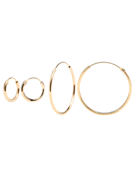 Mini&Large Gold Hoops Pack by P D Paola