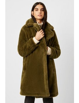 Buona Faux Fur Long Coat by French Connection
