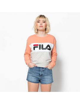 Fila Leah Crew Sweat Lightgrey Salmon by Fila